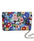 Abstract Flower Bead Clutch