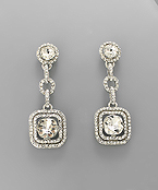 Crystal Shape Earrings