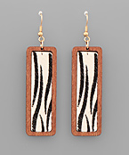 Zebra Print Bar Earrings