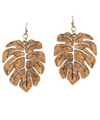 Palm Leaf Cork Earrings