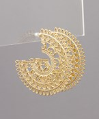 Filigree Circle Hoops