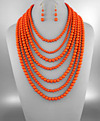 7 Layer Bead Necklace