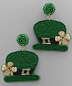 ST. PATRICK'S Hat Earrings