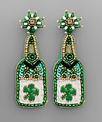 ST. PATRICK'S Champagne Earrings
