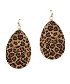 Leopard Cork Earrings