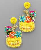 Bead Cocktail Earrings