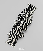 Animal Print Scrunchie Smartwatch Band