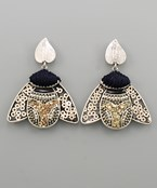 Sequin Beaded Bug Earrings