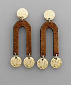 Wood Arch Earrings