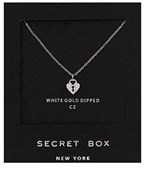 CZ Heart Lock Necklace