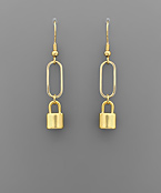 Lock & Link Earrings