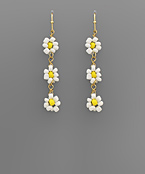 Bead Flower Drop Earrings