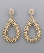 Paved Chain TDrop Earrings