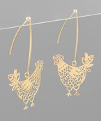 Filigree Chicken Earrings