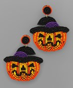 Halloween Theme Bead Earrings