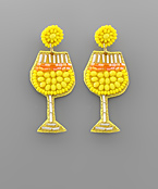 Bead Cocktail Glass Earrings