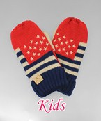 USA Flag Pattern Kid Mittens