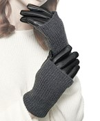 Knit & Leather Dual Wear Gloves