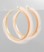 Feather & Metal Hoops