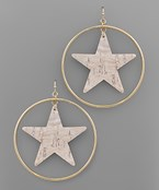 Cork Star & Circle Earrings