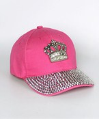 Crown & Crystal Brim Baseball Cap