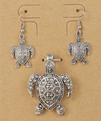 Turtle Pendant Set