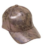 Cracked Metallic Baseball Cap