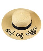 Embroidered Saying Straw Hat