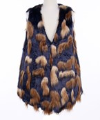 Abstract Fur Vest