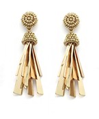 Metal Tassel Beads Earrings
