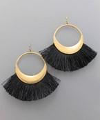 Fan Tassel Circle Earrings