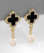 Clover and Pearl Studs