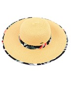Floral Band Straw Sun Hat