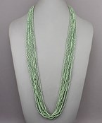 10 Row Seed Bead Necklace