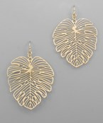 Filigree Tropical Leaf Earrings