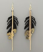Painted Feather Earrings