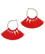 Multi Tassel Hoops