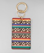 Leopard & Rainbow ID Key Chain