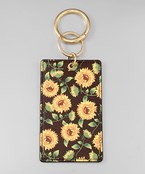 Sunflower ID Key Chain