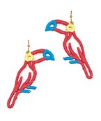 Raffia Parrot Earrings