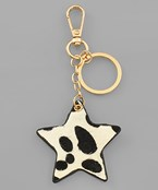 Animal Print Star Key Chain