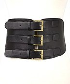 Wide Tri Buckle Belt