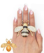 55mm Pave Bee Ring