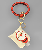 Santa Sanitizer Key Ring Bracelet