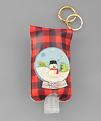 Snowglobe & Plaid Sanitzer Key Chain