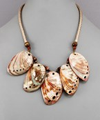 Abalone Shell Dangle Necklace