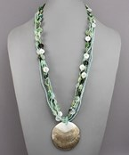 Shells & Seed Beaded Necklace