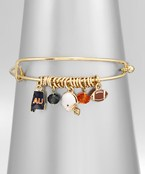 Collegiate Charm Bangle