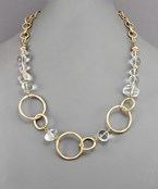 Lucite & Chain Necklace