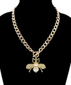 Pave Bee Chain NEcklace
